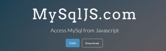 Connect to a #MySQL database from #Javascript with MySqlJS com