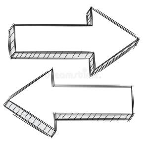 doodle-arrow-pointing-left-right-22006717